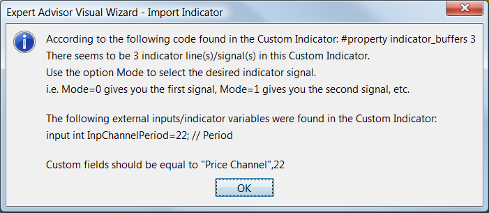 Custom Indicator fields